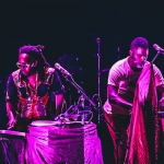 Shabazz Palaces opening for Radiohead at The Shrine Auditorium, Los Angeles