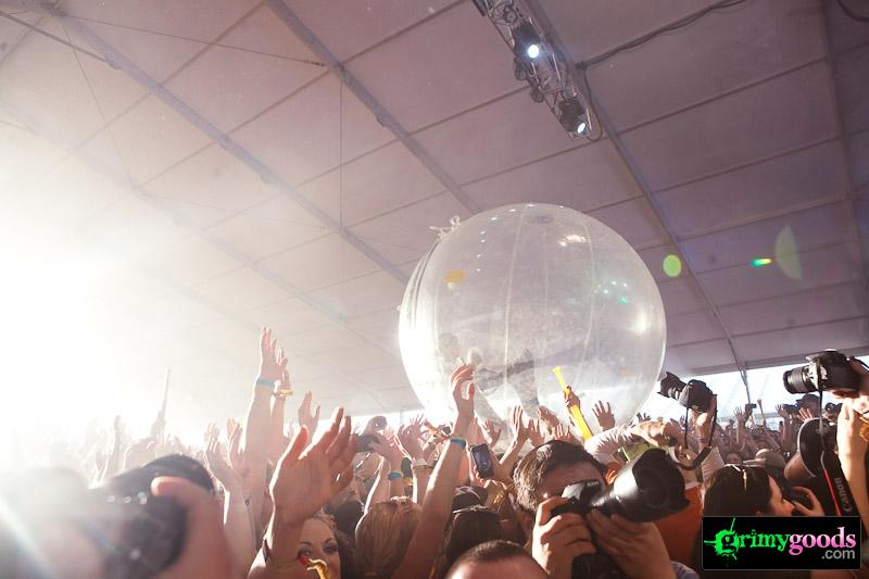 Major Lazer bubble coachella photos