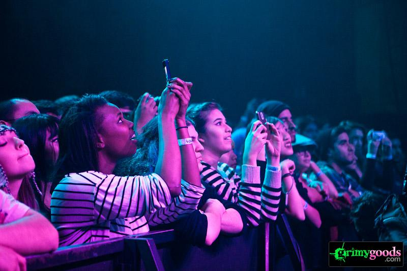 Concert crowd shots