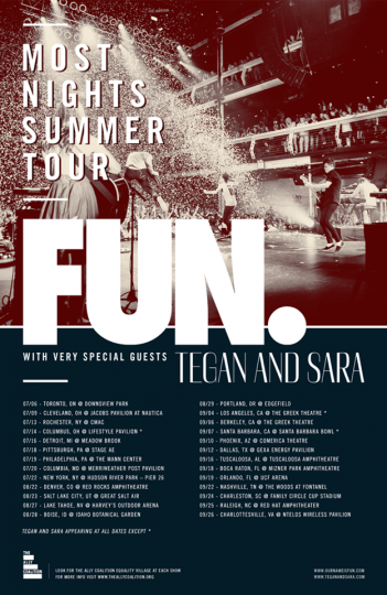 Presale Tickets: fun. with Tegan and Sara at Greek Theatre