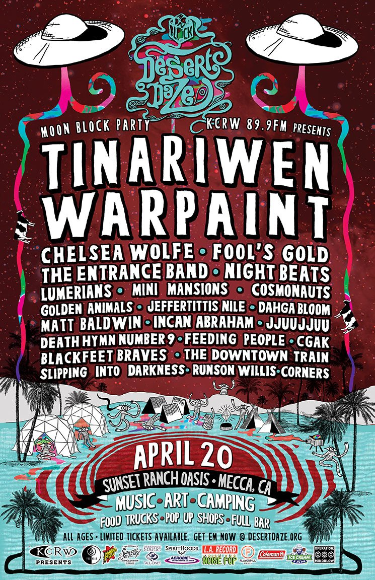 Win Tickets to Desert Daze with Tinariwen, Warpaint & more at Sunset Ranch – April 20, 2013