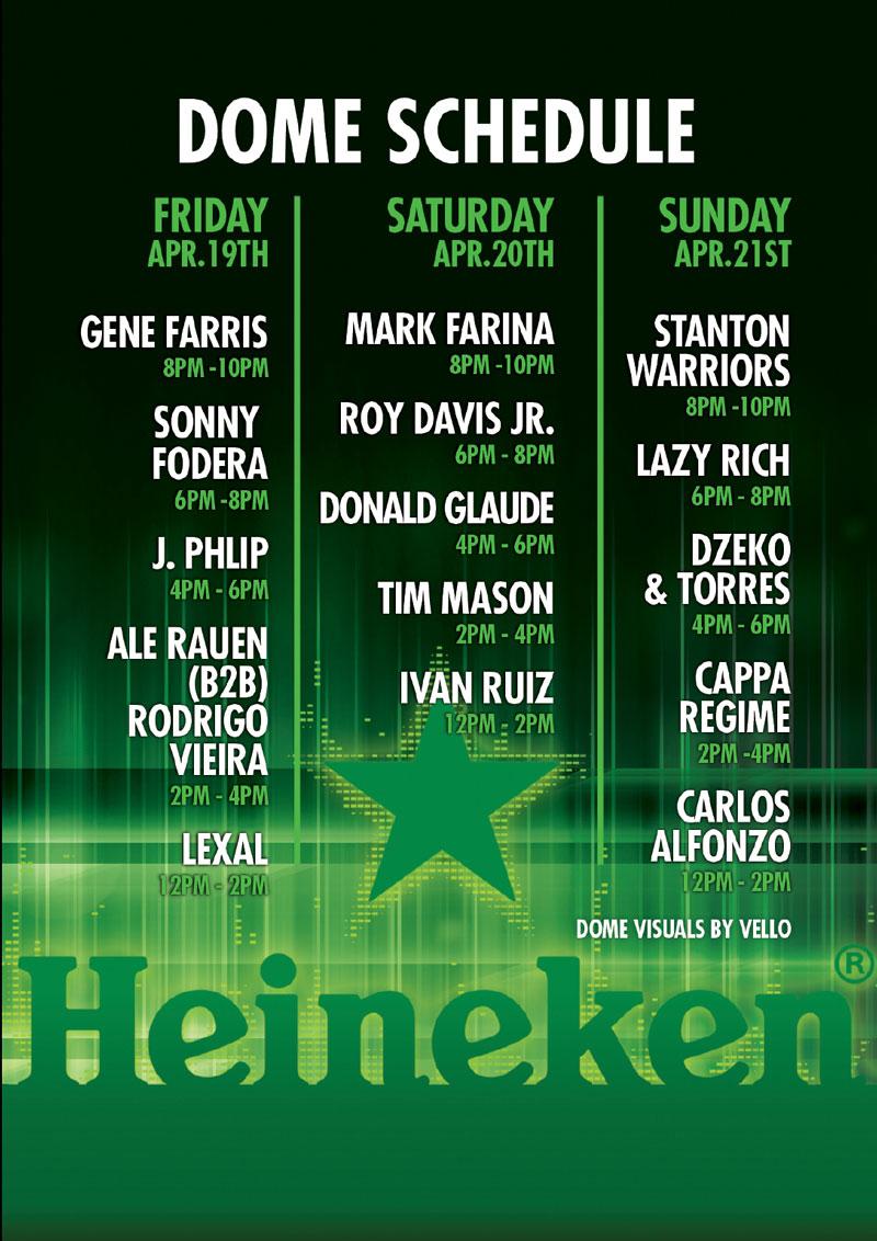 heineken-dome at Coachella weekend 2 set times