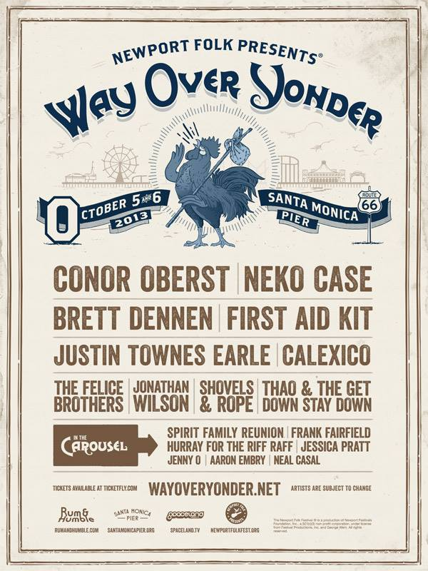 Way Over Yonder festival line up poster