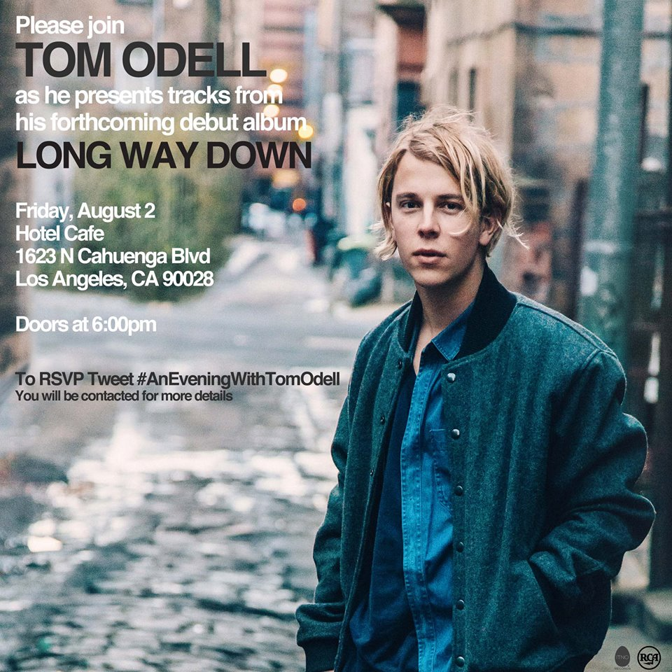 FREE Tom Odell Show at Hotel Cafe