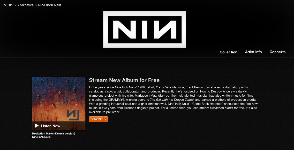 Stream Nine Inch Nails\' New Album, Hesitation Marks - Grimy Goods