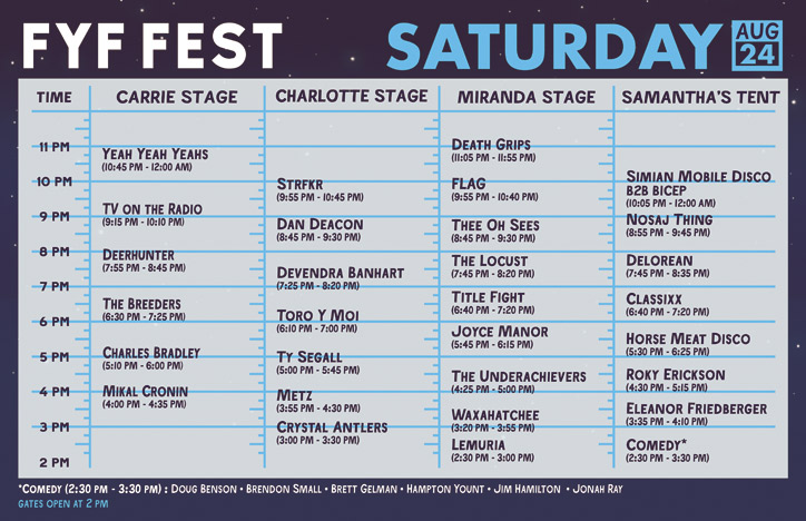 fyf set times 2013 saturday