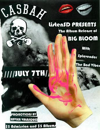 Big Bloom show flyer